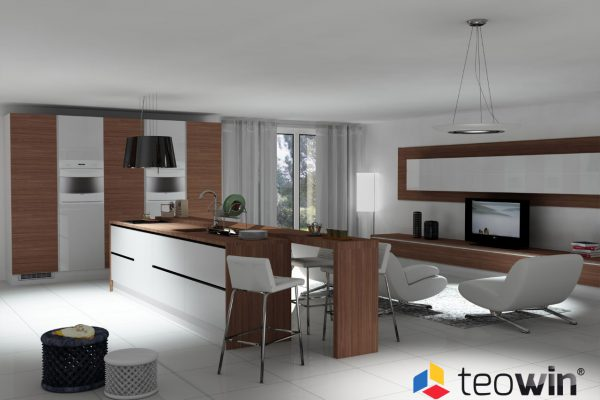 Teowin 3D Kitchen render image