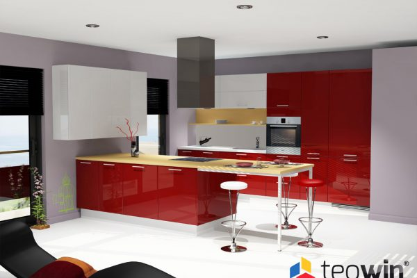 Teowin 3D Kitchen render 2 image