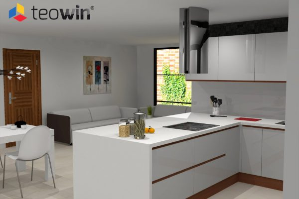 Teowin 3D Kitchen render 3 image